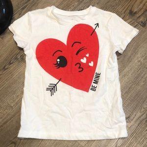 Childrens Valentines Day Short Sleeve Tee- Sz S